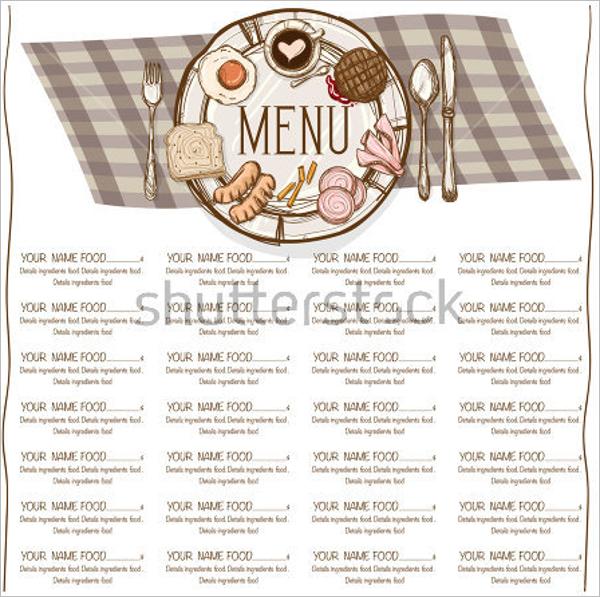 Menu Restaurant Template Design