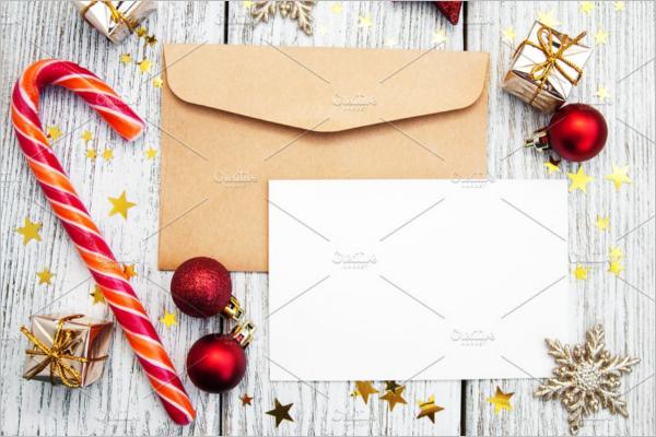 Minimal Christmas Envelope Design