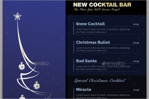 Minimalistic Christmas Menu Template