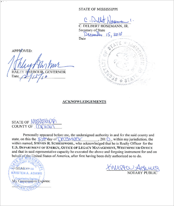 Mississippi Quit claim Deed Sample