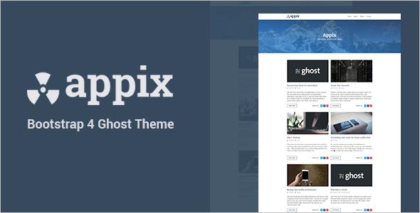 Mobile Blog Website Template