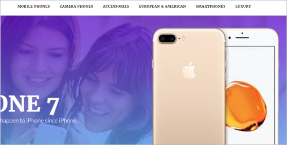 Mobile Phone Website Template