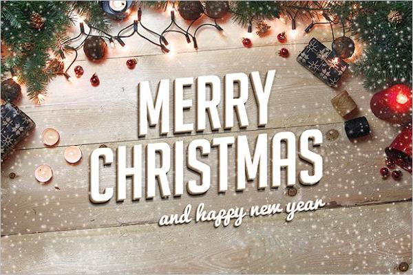 Model Christmas Greeting Card Template