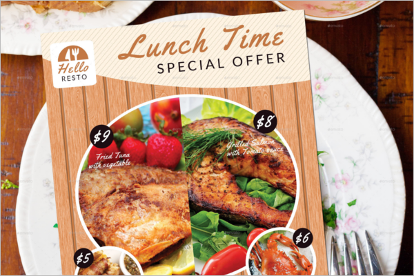 Model Lunch Flyer Template