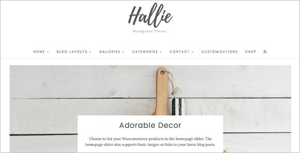 Model Website WordPress Theme