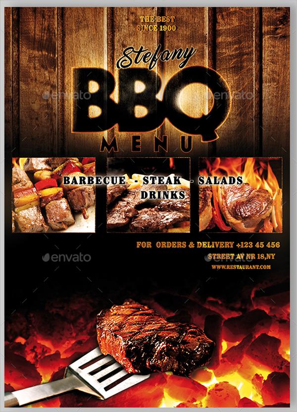 Modern BBQ Menu Template