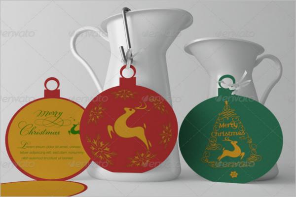 Modern Christmas Card Mockup