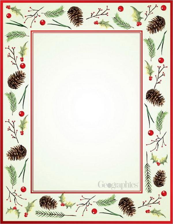 Modern Christmas Stationery Design