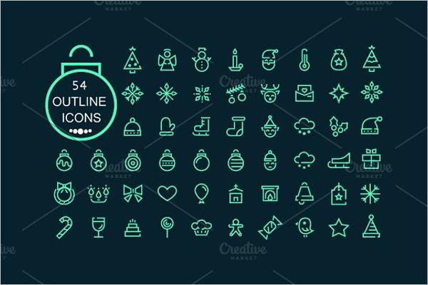 Modern Christmas Vector Icons