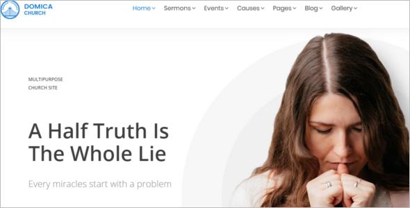 Modern Church Website Theme