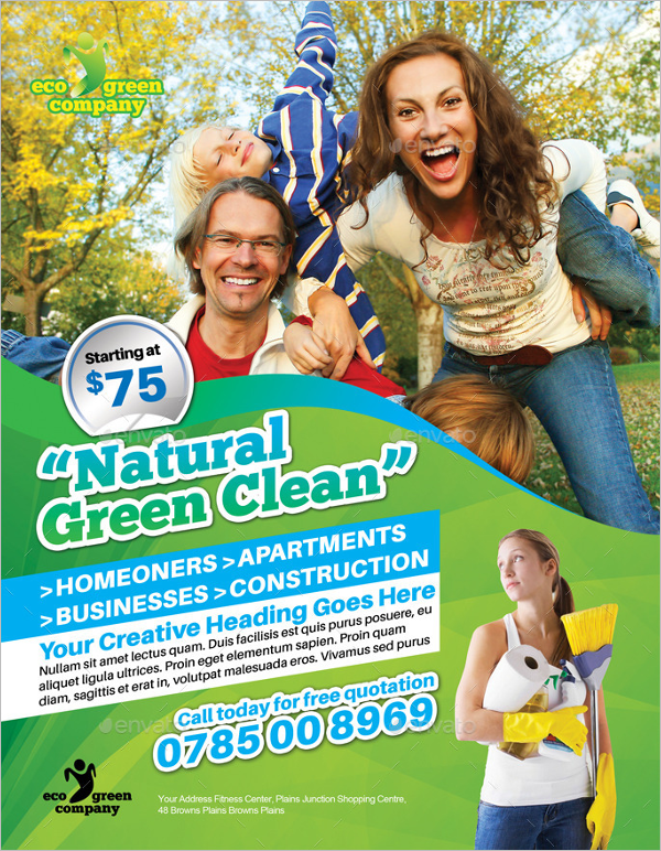 Modern Cleaning Flyer Template