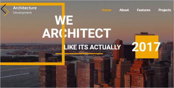 Title Modern Construction Website Template Caption