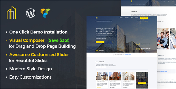 Modern Construction WordPress Theme