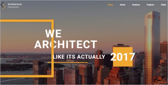 Modern Construction Website Template