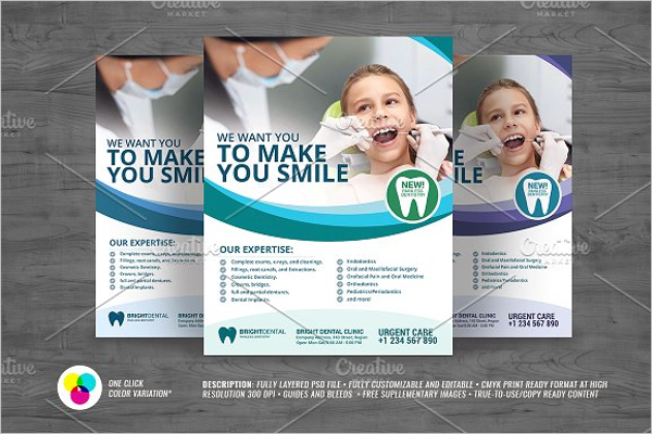 Modern Dental Flyer Template