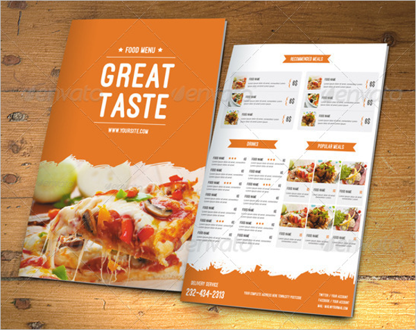 Modern Food Menu Template