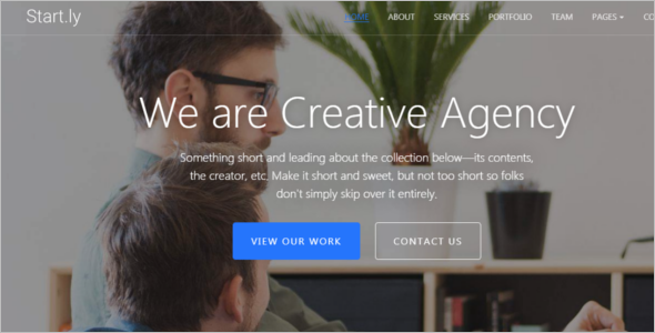 Modern One Page Website Theme