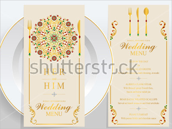 Modern Wedding Menu Design