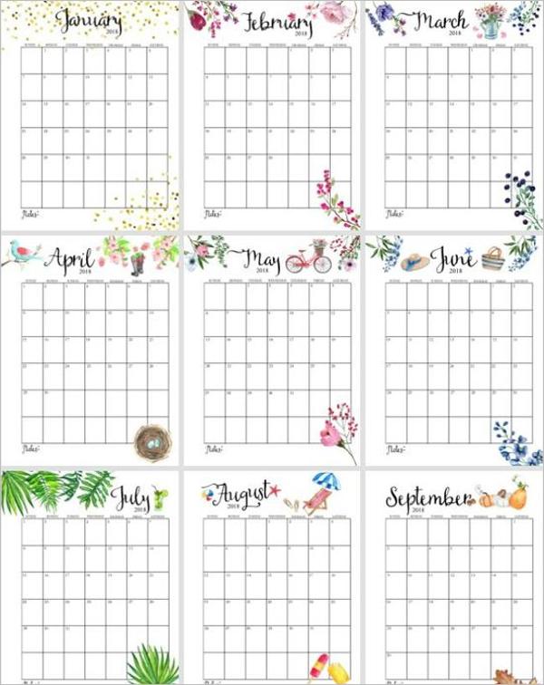 Monthly Menu Calendar Word