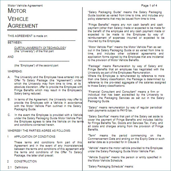 Motor Lease Agreement