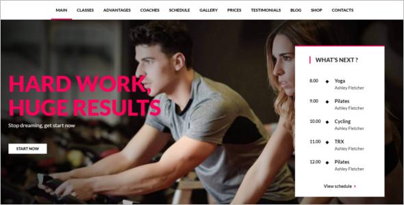 Multi Purpose Gym Website Template