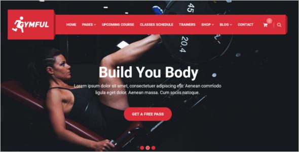 Multi-page Gym Website Theme