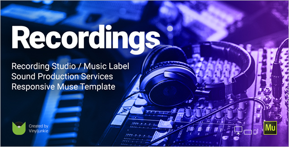 Music Label Responsive Website Template