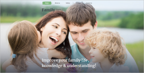 My Family Website Template