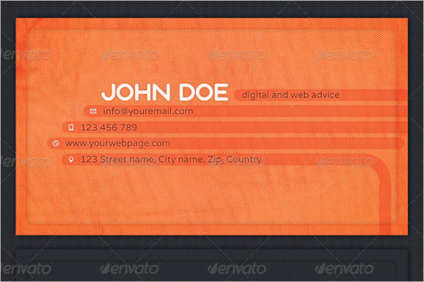 Networking Business Card Template Word