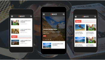 News & Magazine Mobile Templates
