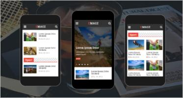 News & Magazine Mobile Templates