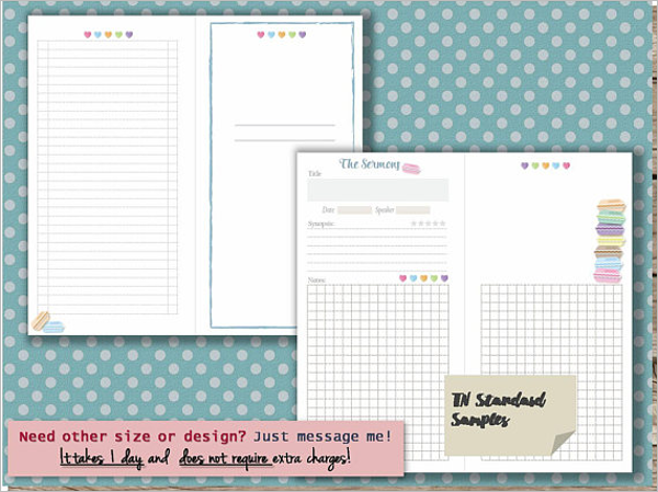 Notebook Layout Word Template