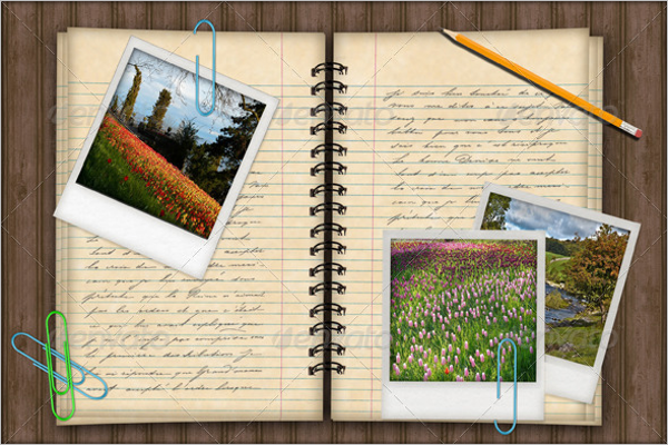 Notebook Photo Template In Word