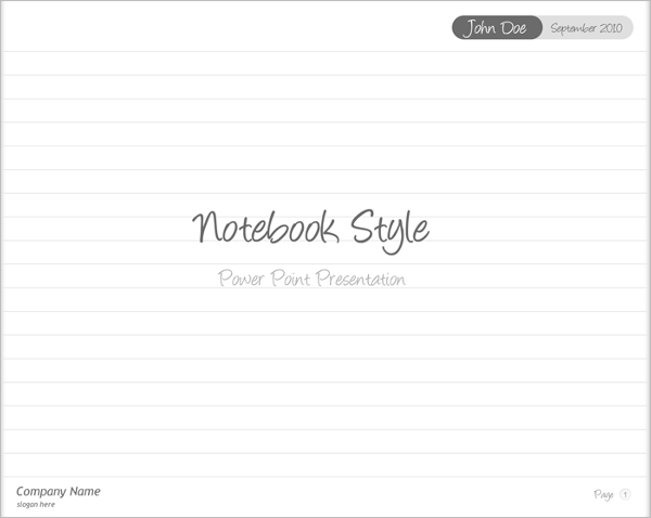 Notebook Style Power point presentation Template