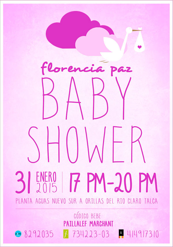 Office Baby Shower Flyer Template