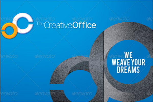 Office Work Business Card Template