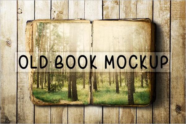 Old Book Mockup Design