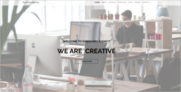 One Page Agency Website Theme
