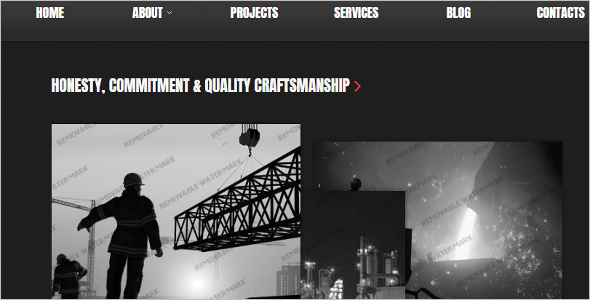 One Page Construction Website Template