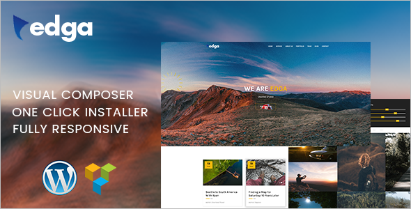 One Page Creative WordPress Theme