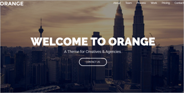 One Page HTML Website Template