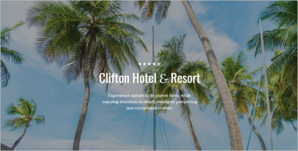 One-Page Hotel Website Template