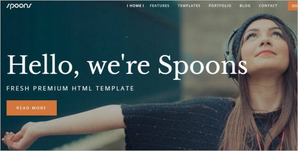 One Page Website Example Template
