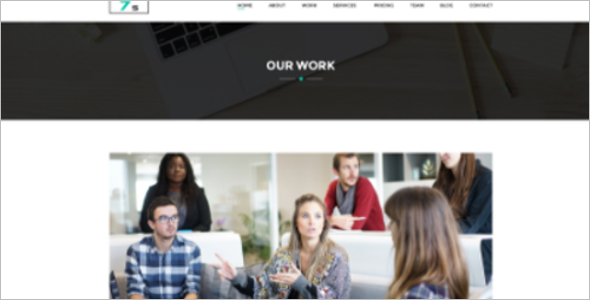 One Page Website Template 2018