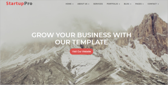 One Page Website Template Bootstrap