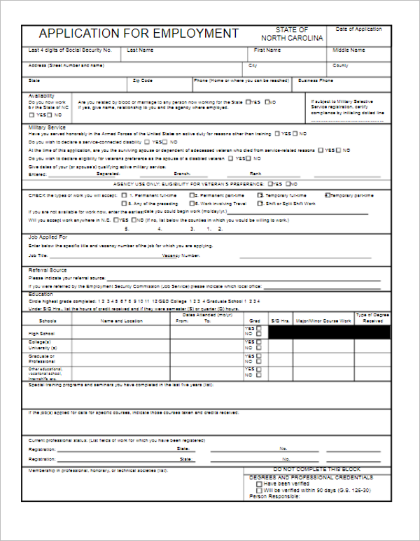 Online Application Form Template