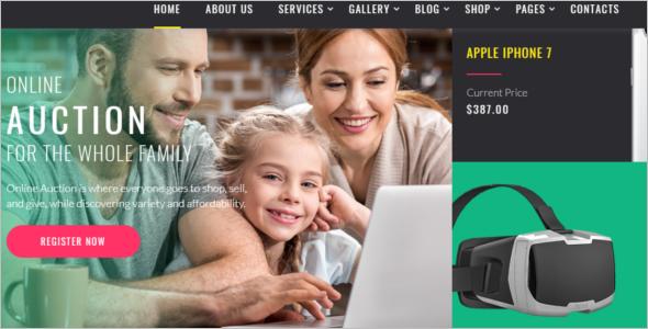 Online Auction Website Template