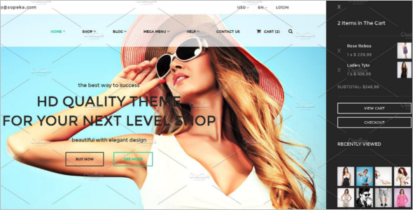 Online Boutique Store eCommerce Website Theme