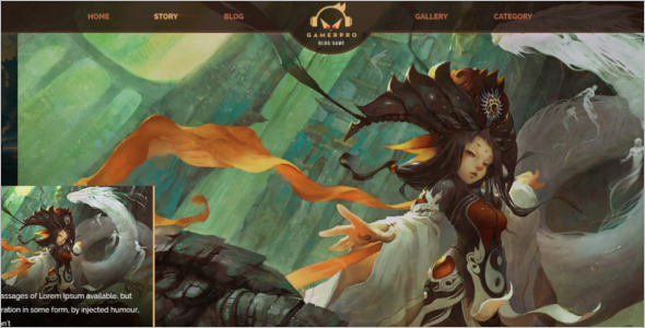Online Gaming Website Template