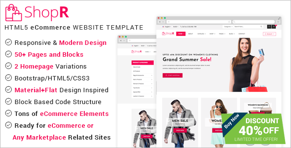 Online Store ECommerce HTML Template